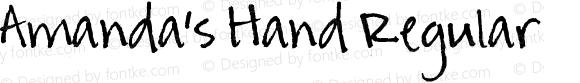Amanda's Hand Regular Version 1.00 August 9, 2005, initial release