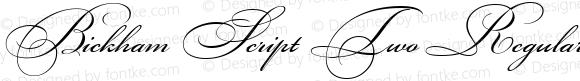 Bickham Script Two Regular Version 1.000 2005 initial release