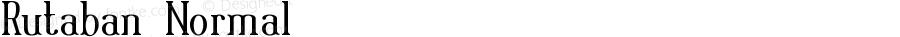 Rutaban Normal Macromedia Fontographer 4.1.5 6/17/01