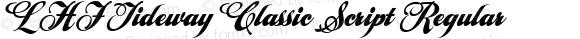 LHF Tideway Classic Script Regular V2. 12/12/2004