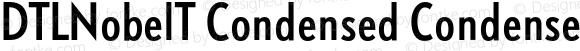 DTLNobelT Condensed Condensed Regular