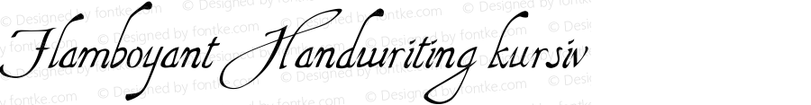 Flamboyant Handwriting kursiv Version 2.2