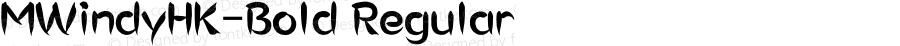MWindyHK-Bold Regular Version 1.10