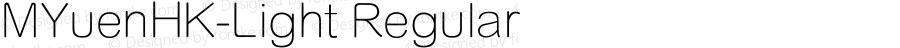 MYuenHK-Light Regular Version 1.10
