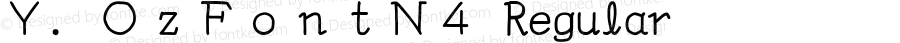 Y.OzFontN4 Regular Version 9.40