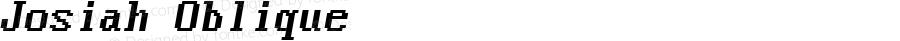 Josiah Oblique 1.0 Tue Sep 13 12:52:03 1994