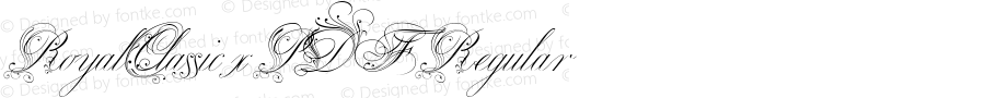 RoyalClassic xPDF Regular Unknown