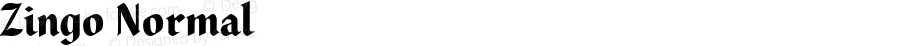 Zingo Normal Macromedia Fontographer 4.1.5 12/1/00