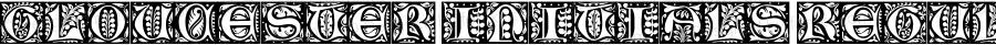 Gloucester Initials Regular Macromedia Fontographer 4.1.4 7/20/99
