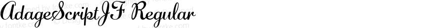 AdageScriptJF Regular Macromedia Fontographer 4.1.4 3/19/03