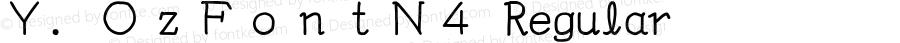 Y.OzFontN4 Regular Version 9.41
