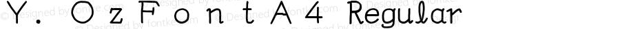 Y.OzFontA4 Regular Version 9.41