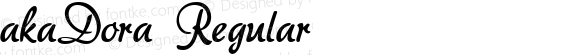 akaDora Regular Version 1.00 2005 initial release