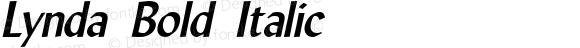 Lynda Bold Italic 1.0/1995: 2.0/2001