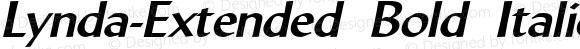 Lynda-Extended Bold Italic 1.0/1995: 2.0/2001