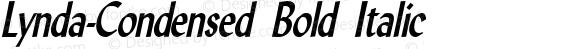 Lynda-Condensed Bold Italic 1.0/1995: 2.0/2001