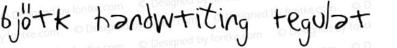 Björk Handwriting Regular 1997; 1.0, initial release