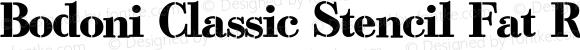 Bodoni Classic Stencil Fat Regular PDF Extract