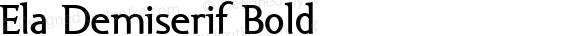 Ela Demiserif Bold PDF Extract