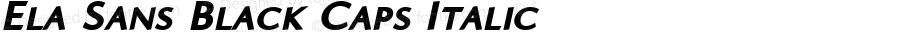 Ela Sans Black Caps Italic PDF Extract