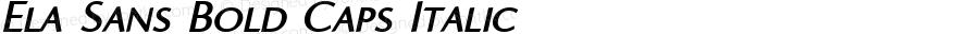 Ela Sans Bold Caps Italic PDF Extract