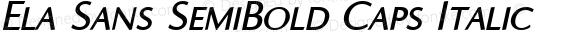 Ela Sans SemiBold Caps Italic PDF Extract