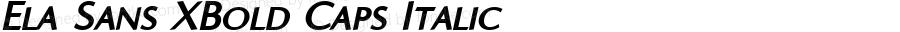 Ela Sans XBold Caps Italic PDF Extract
