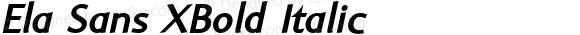 Ela Sans XBold Italic PDF Extract