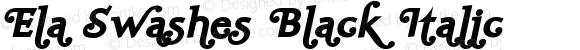 Ela Swashes Black Italic PDF Extract