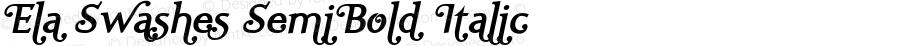 Ela Swashes SemiBold Italic PDF Extract