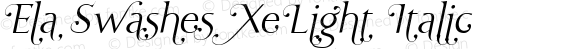 Ela Swashes XeLight Italic PDF Extract