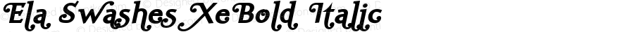 Ela Swashes XeBold Italic PDF Extract