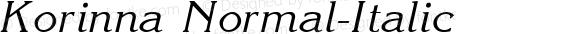 Korinna Normal-Italic