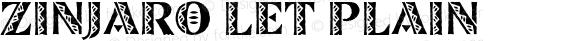 Zinjaro LET Plain Macromedia Fontographer 4.1.3 9/23/96