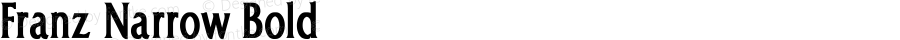 Franz Narrow Bold Converted from e:\temp\FRANZ_NR.BF1 by ALLTYPE