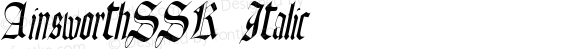 AinsworthSSK Italic Macromedia Fontographer 4.1 8/10/95