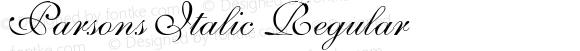 Parsons Italic Regular Unknown