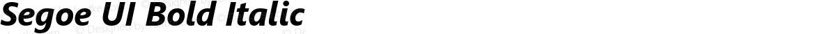 Segoe UI Bold Italic