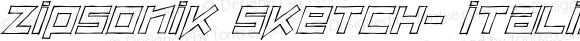ZipSonik Sketch- Italic 001.000