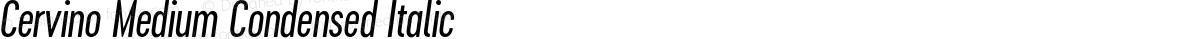 Cervino Medium Condensed Italic