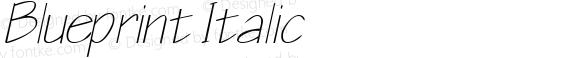 Blueprint Italic