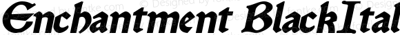 Enchantment BlackItalic