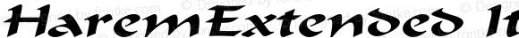 HaremExtended Italic