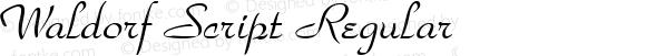 Waldorf Script Regular Rev. 002.001