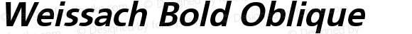 Weissach Bold Oblique