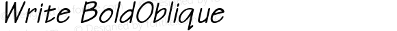 Write BoldOblique