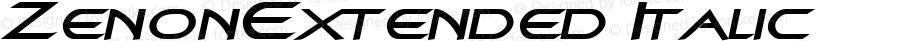 ZenonExtended Italic Rev. 003.000