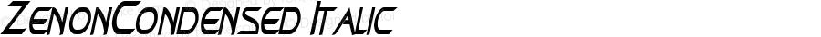 ZenonCondensed Italic Rev. 003.000