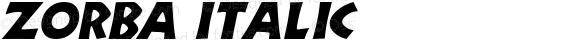 Zorba Italic