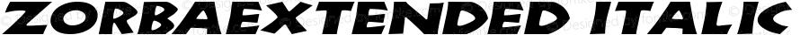 ZorbaExtended Italic Altsys Fontographer 4.1 5/11/95